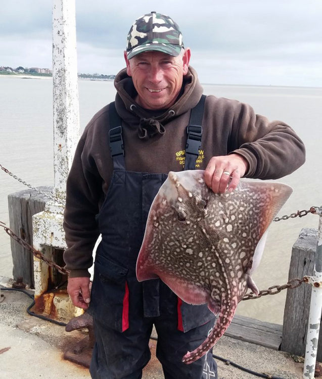 Mick Lloyd with one of his rays