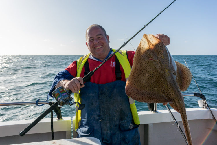 Colin Searles with a Kidney Bank blonde ray