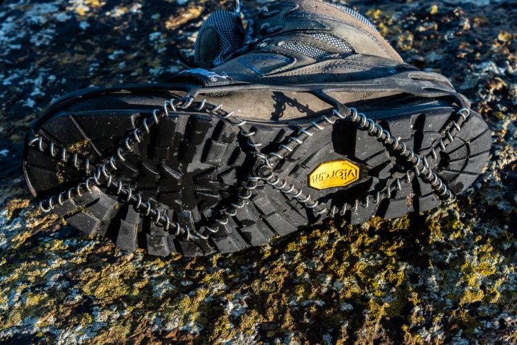 Yaktrax Pro constructed from rubber and wire coils