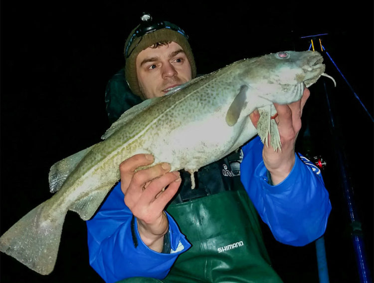 Ben Caillghan from Brooke Cycles with a cracking cod