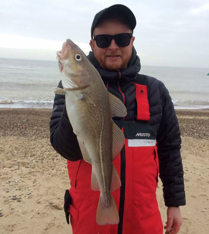 Local angler Matt Clark with a fine Spring run codling