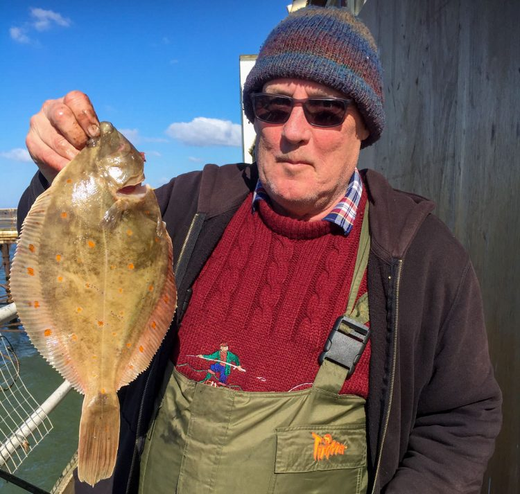 Stan Myerscough with his biggest plaice of the day