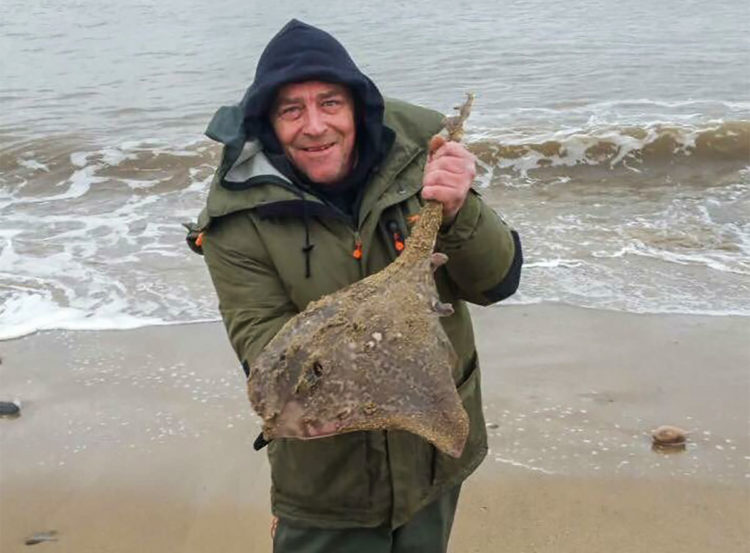 Ray Barrett with his thornback ray