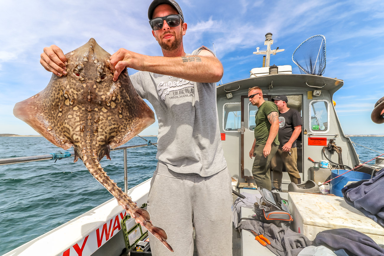 Martin Bailey with a thornback ray