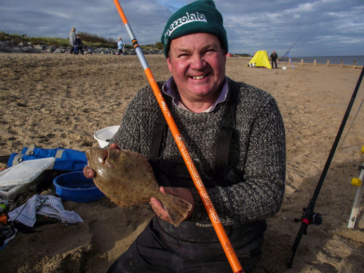 Third placed Dave Shorthouse with the longest flatfish