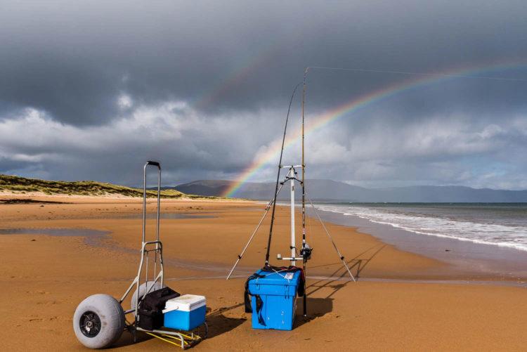 Rainbow over Embo beach