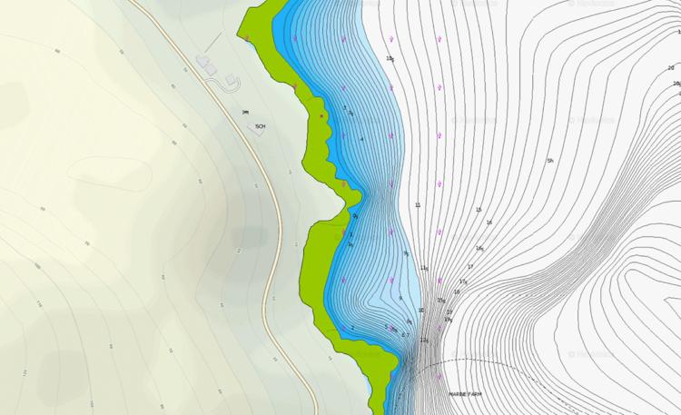 Researching A New Shore Mark Navionics Chart