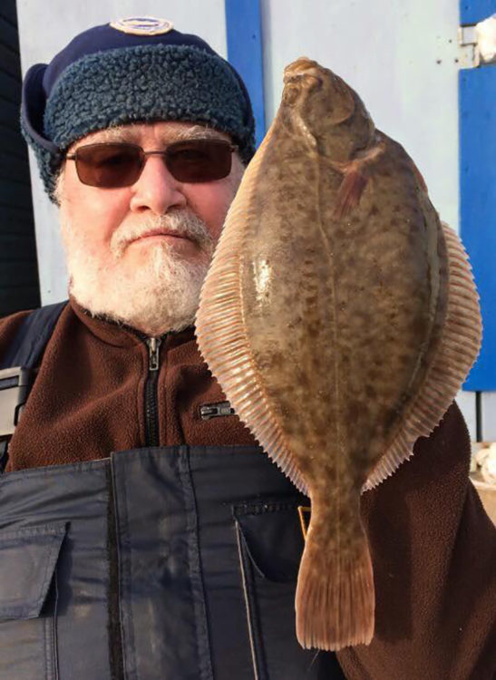 Colchester Club Member Bill Paqutte with his winning flounder