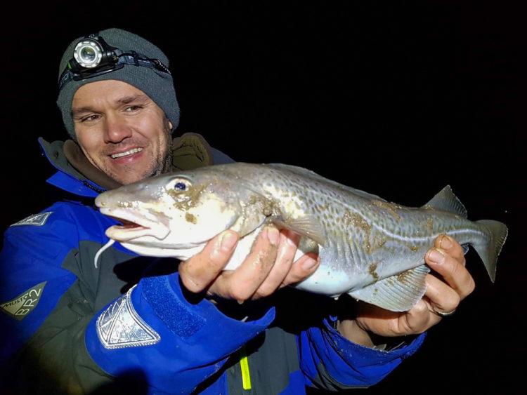 Chris Ashton with a nice cod