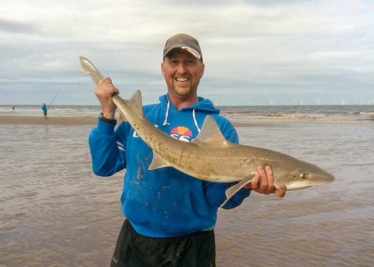 Hound magnet and match winner Adie Cooper with the longest round fish