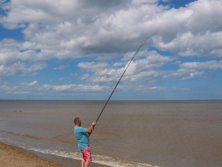 Match winner Adie Cooper already into a decent fish first cast!